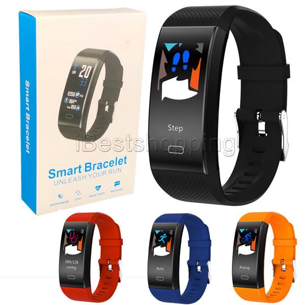 TF6 Smart watch Colore schermo Bracciali Fitness Tracker Step Counter Activity Monitor Band Alarm Clock Vibrazione Wristband per iPhone Android