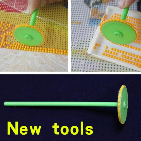 Very Useful !New Full Square Round diamond painting pen wheel diamond painting tools Point pen DIY Crystal Picking up Wheels Kits Icon