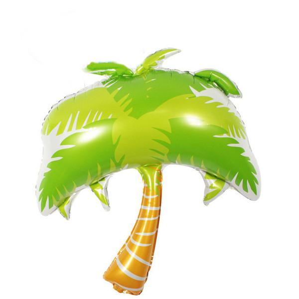 Hawaii Vivid Coconut Tree Balloon Tema Festa palloncino Spiaggia Palloncini foglio di alluminio per feste di compleanno Decorazione forniture
