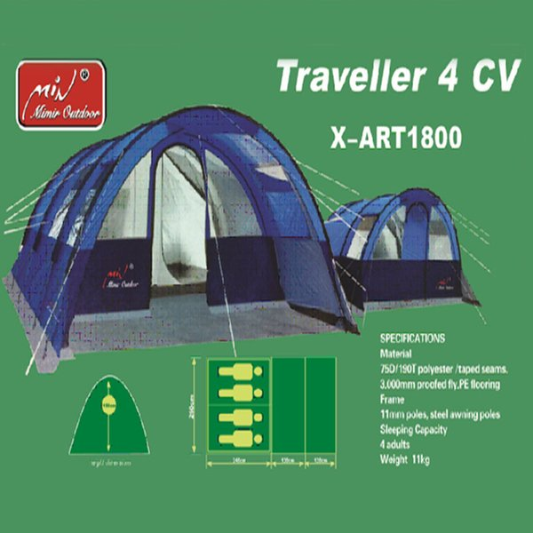 12m2 Two Bedroom Living Room Rainproof Tent Glass Activities Curtain Design Family Team Outdoor Camping Super large Tent