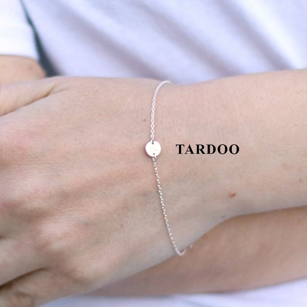 Tardoo Gold Circle Bracelets 925 Silver Cylinder Trendy Charm Bracelet Women Fine Jewelry Simple Gold Chain Link Party Bracelets S18101308
