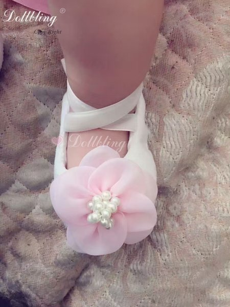 Baby Bling Boutique Pure Handmade Custom Shoes Pulsh Pink Flower Gorgeous Elegant Outfit Match Posh Cutest Baby Birthday Crib