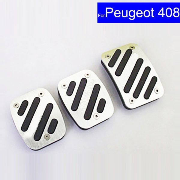 Car Aluminium Alloy Petrol Clutch Fuel Brake Pad Foot Pedals Rest Plate for Peugeot 408 307 308 508 Auto Free Shipping