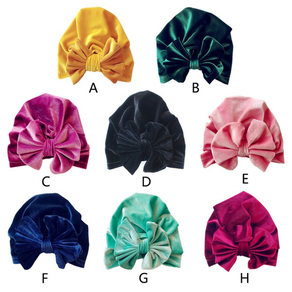 2018 Cute Cotton Baby Hat Bow Caps For New born Baby Boy Girl Soft Beanie Hat Spring Autumn Winter Children's Hats 8 Colors