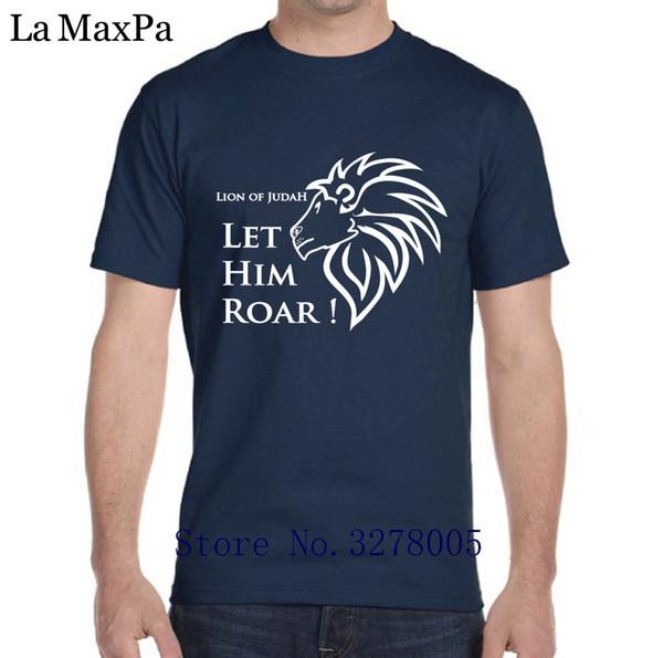 Printed Men Tshirt Anti-Wrinkle Comfortable Lion Of Judah Let Him Roar T-Shirt Cotton T Shirt For Men Plus Size 3xl Hiphop Top
