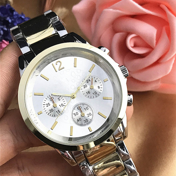 Fashion Modern Mens Luxury Watch Reloj Mujer Stainless Steel Bracelet Ladies Brand Watches Lovers Quartz Wristwatches Clock Folding Clasp