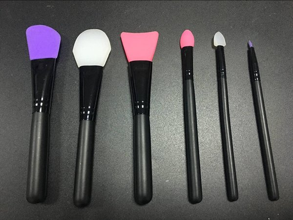 STOCK Silicone Makeup Brushes 6pcs Professional Makeup Brushes Cosmetic Tools Kit for Foundation Face Powder Mud Mask