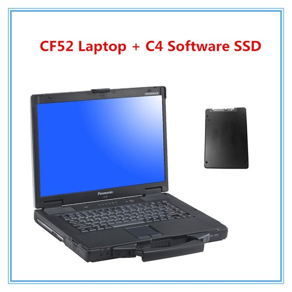 Verwendet Panasonic CF-52 CF52 CF 52 Militär Toughbook Diagnose Laptop mit mb ​​star c4 software XENTRY / DAS / EPC / WIS / EWA / VEDIAMO / DTS