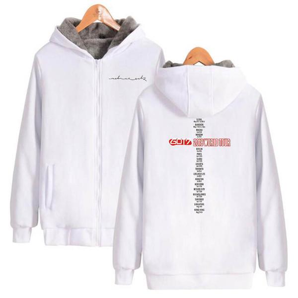 GOT7 Thick Winter Warm zipper Hoodie Sweatshirt Women Men Casual Jacket High Quality Coat Sweatshirt Fleece Oversized Hip hop Hoodies