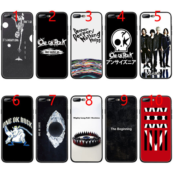 ONE OK ROCK Soft Black TPU Phone Case for iPhone XS Max XR 6 6s 7 8 Plus 5 5s SE Cover