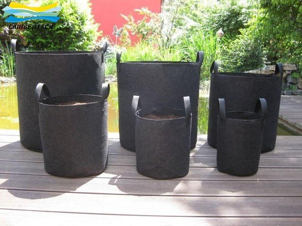 15-30 Gallon Non Woven Grow Bag Plants Fabric Pots Plant Pouch Root Container Aeration Flower Pot Garden Bag Planters Pouch Root Container