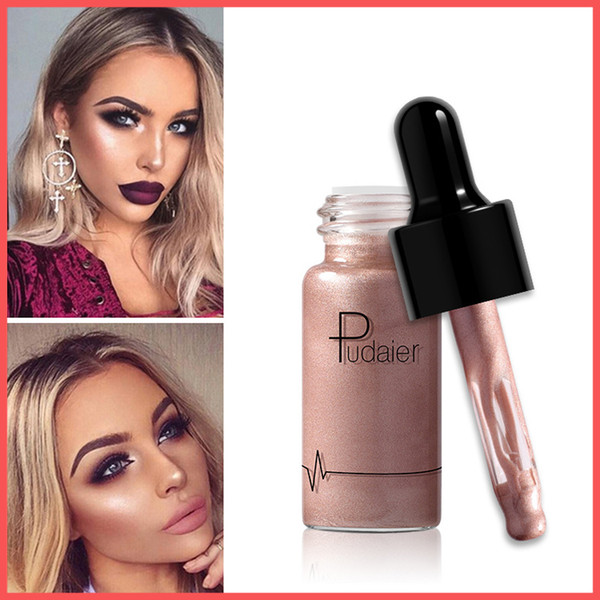 Factory Direct DHL Free Pudaier 12 Colors High Gloss Liquid Apply High Gloss To Create 3D Stereo Makeup Highlighter Bronzers Face Concealer
