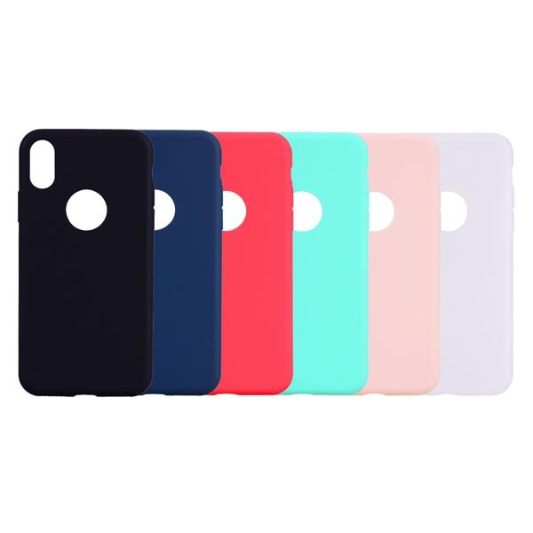 Wholesale Frosted Back Cover For iPhone XS MAS XR XS X 8 Plus 7 Plus 6 6S Plus 5 5S SE Solid Color Simple Soft TPU Case