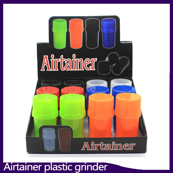 Newest Airtainer 2 in 1 Herb Grinder Container Herb Tobacco Storage Acrylic Bottle Style five color 0266214
