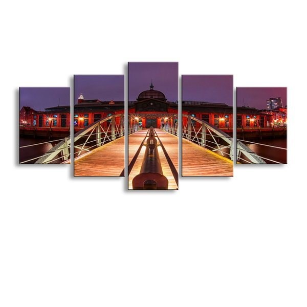 5 pieces high-definition print Landscape canvas oil painting poster and wall art living room picture PL5-147