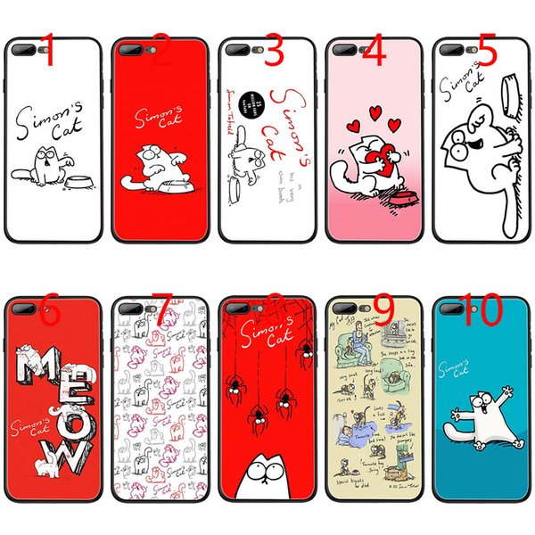 Simons Cat Simon's Soft Black TPU Phone Case for iPhone XS Max XR 6 6s 7 8 Plus 5 5s SE Cover