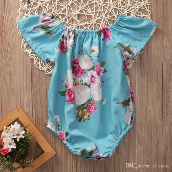 best selling 2017 Baby Girl Romper Infant Summer Ruffled Newborn Jumpsuit Ruffles Sleeve Clothes Bubble Toddler Produce Girls babies Rompers Roupas