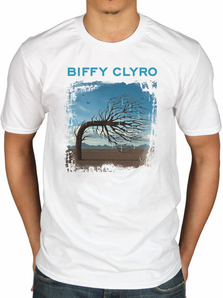 Official Biffy Clyro Opposites T-Shirt Scottish Rock Only Revolutions Puzzle Bli Brand Cotton Men Clothing Male Slim Fit T Shirt