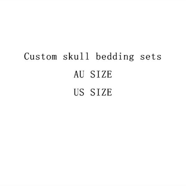 Fanaijia Rose flower skull Bedding Set for King Size Bed 3D sugar skull duvet cover with pillowcase AU Queen Bed bedline