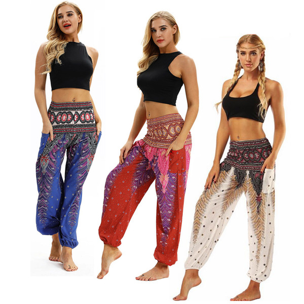 Yoga legging Yoga Pant Tie dye grey flower Printed High waistband pocket Straight Loose Yoga leggings lounge balance workout pants Bloomers