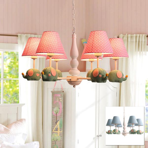 Bedroom for baby kid children room hanging lamp pendant light lamp LED small elephant animal cartoon cute pendant lamp light
