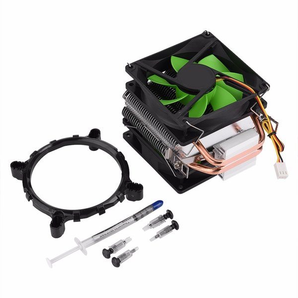 90mm 3Pin Dual-Side-Lüfter CPU-Kühler Kühlkörper Quiet Ohne Lampe CPU Kühlkörper Kühler für Intel LGA775 / LGA1150 / LGA1155 2017 neu