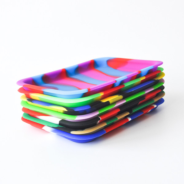 Factory Price Silicone Rolling Tray Heat-resistant Square Size 20.5cm*15cm*1.9cm Tobacco Handroller Cigarette Smoking Accessory DHL Free