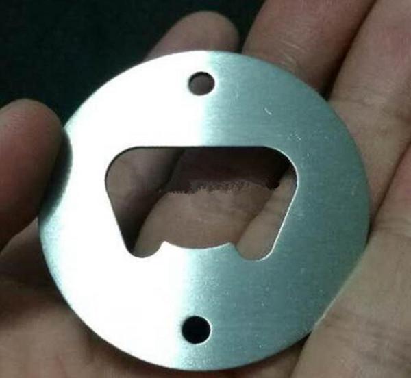 2018 Paslanmaz Çelik Şişe Açacağı Parçası Havşa Delikli Yuvarlak Veya Özel Şekilli Metal Güçlü Cilalı Şişe Açacağı Eklemek Parçaları