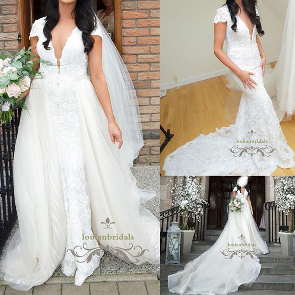 compre exquisito vestido de novia sirena de la más alta calidad
