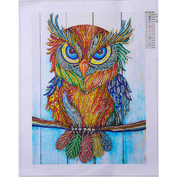 Special-shaped,crystal,Diamond mosaic,animal,owl,pictures,Handicraft,Diy,5D,Diamond painting Cross Stitch,Diamond embroidery