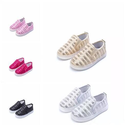 Kinder glitzern Schuhe mit leichten Kinder leuchtenden Turnschuhen führte Kinder beleuchtete Schuhe Kleinkind Boy LED blinkende Mädchen Schuhe Pailletten Wohnungen B11