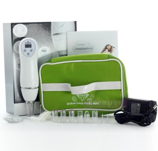 Equipamento de beleza Novo estilo 100 V-240 V Microdermoabrasão Máquina de Remoção de Pele de Cravo Casca de Dermoabrasão de Diamante Massagem Facial a749
