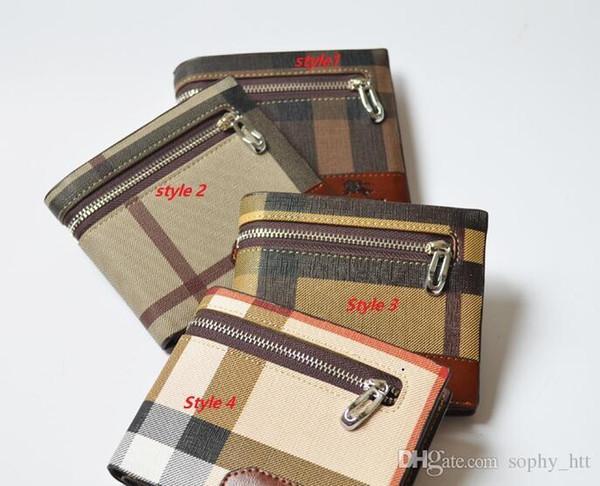 Mens wallet High-quality pu leather fashion BBR wallet mens designer card wallets pocket bag European style purses