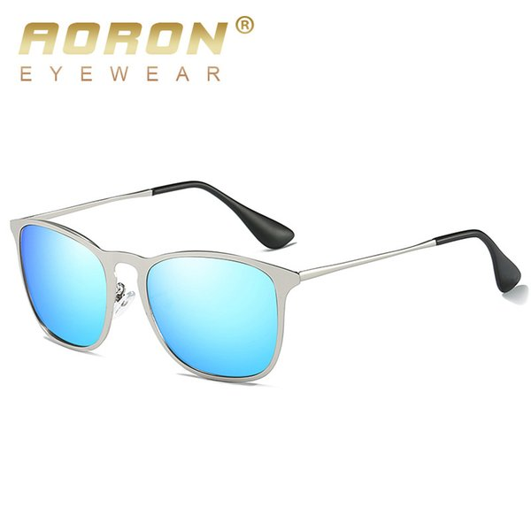AORON BRAND DESIGN Sunglasses Men Male gafas de sol polarizadas Driving Vintage Women Gafas de montura de aleación Gafas UV400