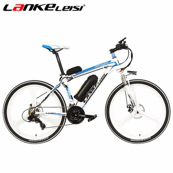 Оптовая 26 дюймов Ebike 7Speed электрический горный велосипед 240 Вт бесщеточный мотор 48V10AH Whte-синий с Смарт-компьютер