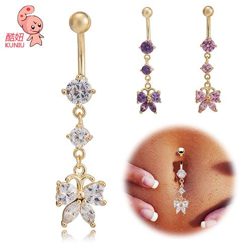 Explosive body, body piercing ornament, medical steel navel nail, navel Button Navel Ring