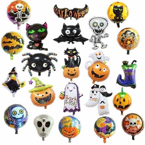 Halloween Pumpkin Ghost Balloons Halloween Decorazioni Spider Foil Balloons Giocattoli gonfiabili Bat Dolcetto o scherzetto Halloween Party Supplies