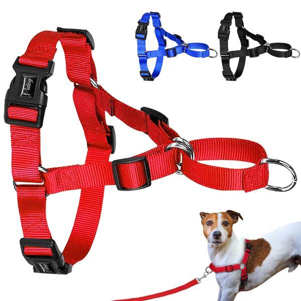 Imbracatura per cani Easy Walking Imbracature per cani non tiranti Nylon Dogs Gilet da passeggio Controllo comfort per la camminata quotidiana e allenamento S M L