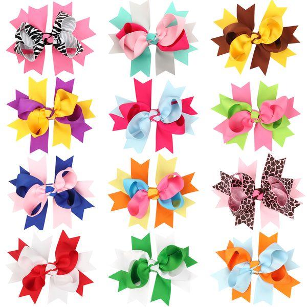 12 colors children Big Bow Hairpins Ribbon Bows Clips Hair Bow For Girls Bow Boutique Hair Clip Headwear Kids Hair Accessories fashion