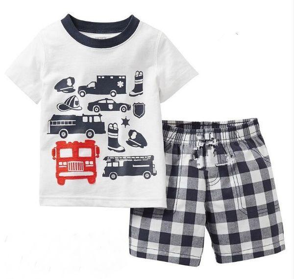 2018 Hot Sell Children Cartoon Pajamas Sets Girls Summer Pyjamas Kids Short Sleeve Homewear Baby Girl Sleepwear Pajama MUT81