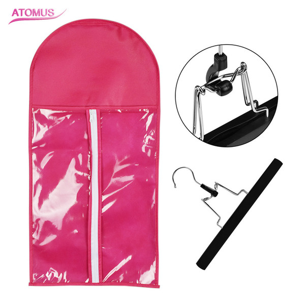 1 Set Rose Hair Extensions Storage Bag Wig Hanger Hair Extension Package Suit Case Bags for Hair Weft Extensions