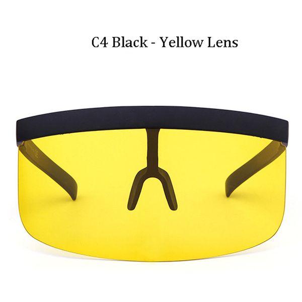 C4 Cadre noir lentille jaune