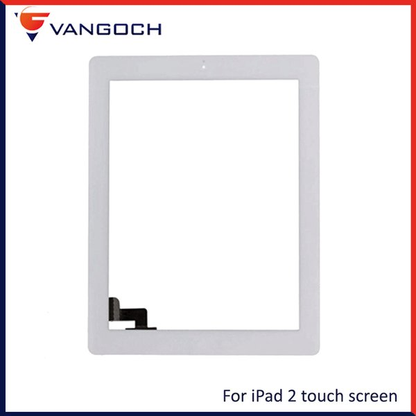 For iPad 2 3 4 Touch Screen iPad Mini 1 2 3 Front Glass Replacement With Home Button Adhesive Free Shipping
