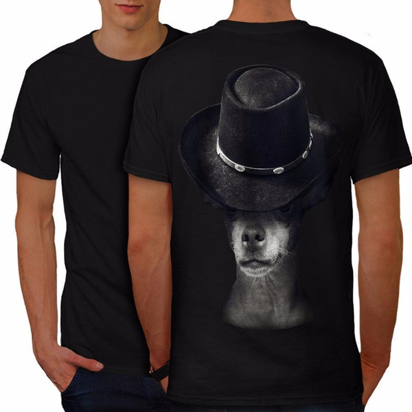 Best T Shirt Sites Short Sleeve Mysterious Dog Hat Funny Men T-Shirt Back New Casual Crew Neck Tee Shirts For Men