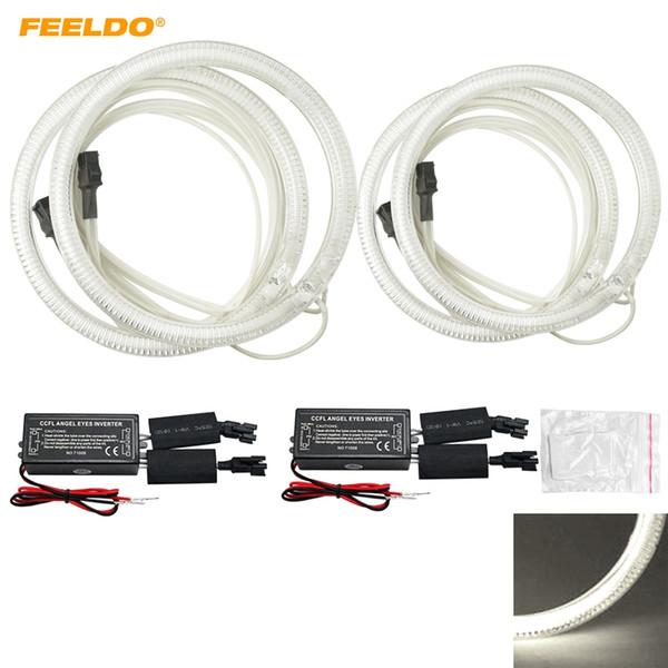 FEELDO Car CCFL Angel Eyes Light Halo Rings Kits For Volkswagen Magotan Car Styling Headlight #4851
