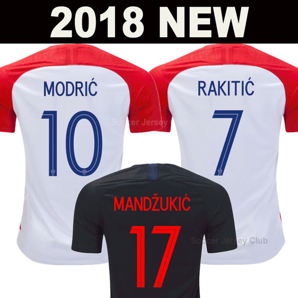 2018 soccer jersey World Cup Hrvatska MODRIC MANDZUKIC RAKITIC PERISIC KALINIC SRNA KOVACIC national team football shirt AAA Thai quality