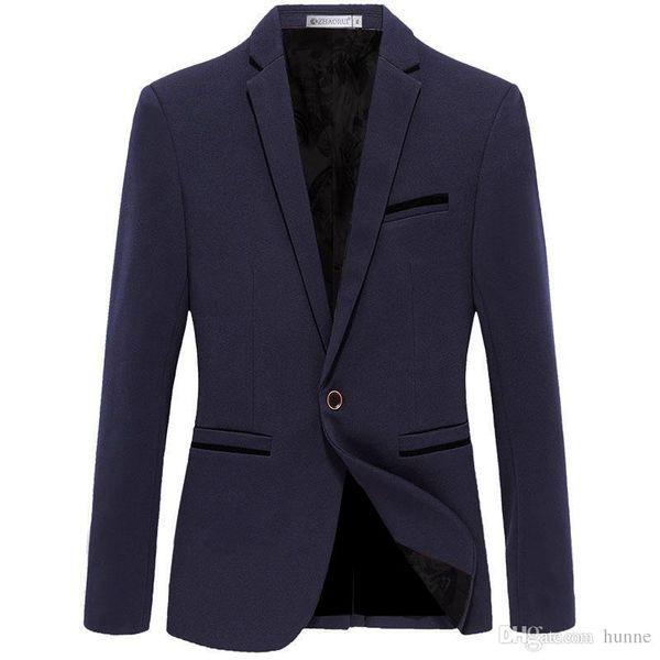 61a78931973 Wholesale- 2017 Spring New Design Men s Casual Big Size Blazers Businessman  Leisure Suit Solid Color Large Size Blazers M-6XL