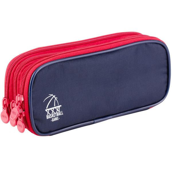 Étui à crayons 3 couches zipper sac à crayons garçon et fille toile étui à crayons stylo sac rangement papeterie sac can