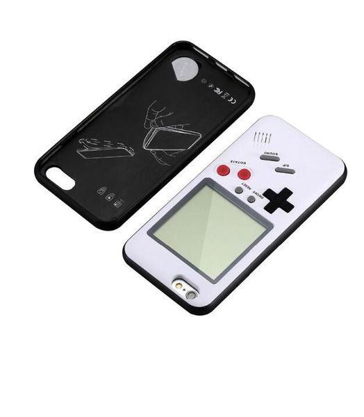 Tetris gameboy case capa para apple iphone 6 6 s 7 8 6 além de 6 s 8 plus iphone x retro silicone + pc play game console