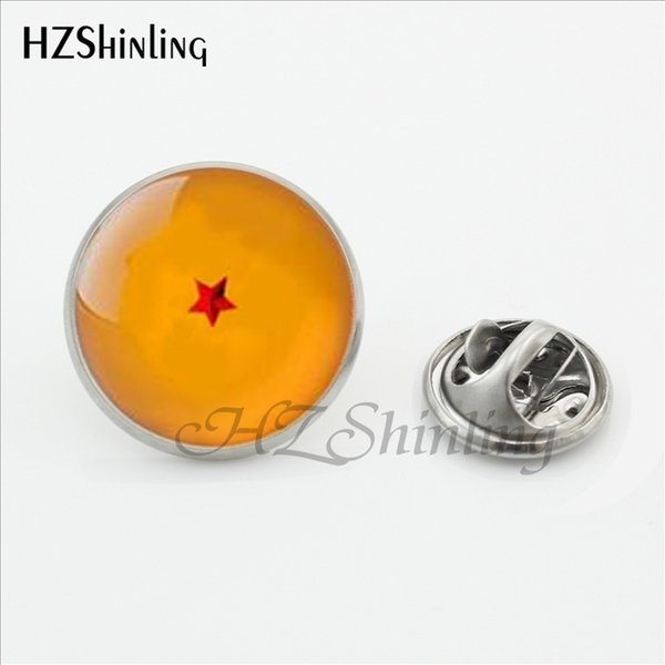 New Arrival Dragon Ball Star Butterfly Brooches Pins Dragon Ball inspired Glass Cabochon Stainless Steel Lapel Pins Brooches